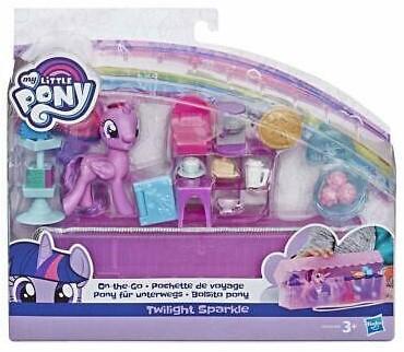 My Little Pony On the Go Twilight Sparkle met toebehoren 7,5cm