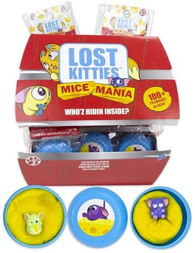Lost Kitties verzamelfiguren Lok Mice Mania Minis in display