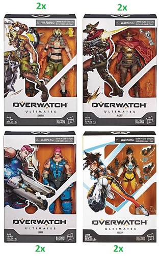 Overwatch Ultimates Action Figure 4 assorti 15,5x23cm