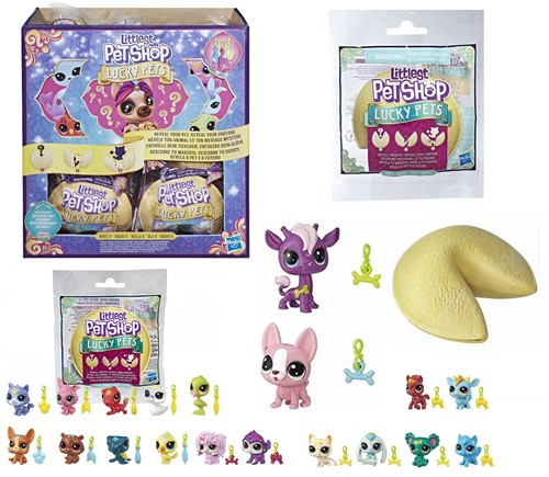 Littlest Petshop Lucky Pets Fortune Cookie in display