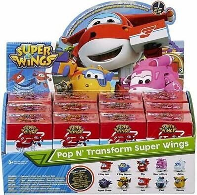 Super Wings Pop N' Transform Super Wings in display