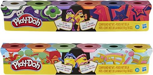Play-Doh set met 4 verschillende kleuren, 2 assorti