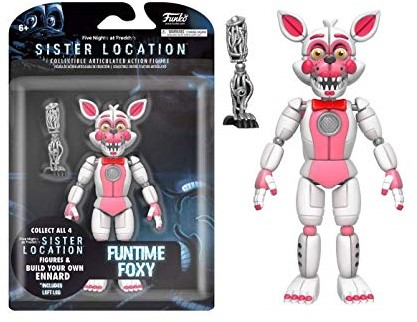 "Five Nights at Freddys Action Fig Asst 5"" Foxy"