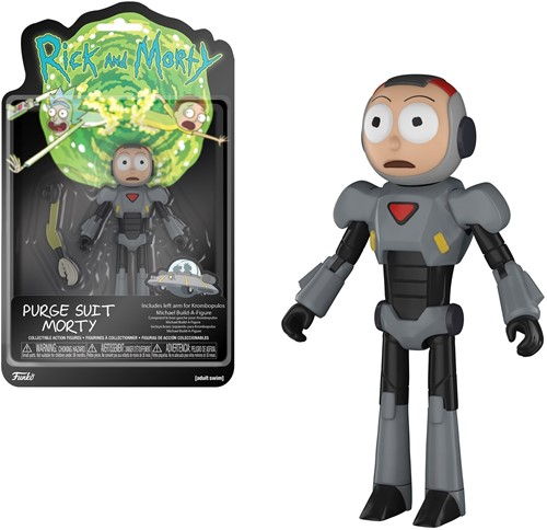 Funko Action Fig Rick & Morty Morty (Purge Suit)