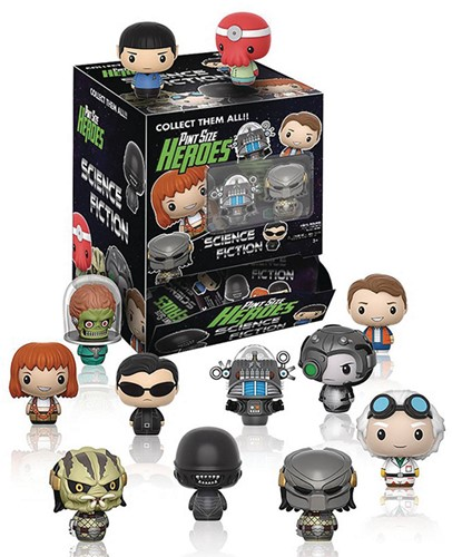 Funko Pint Size Heroes Sci-Fi Blindbags in display
