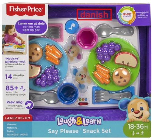 Fisher-Price Say Please Snack Set (Danmark)