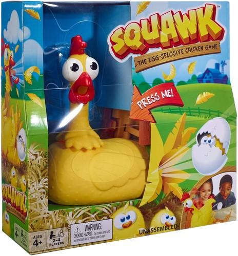Mattel Squawk Chicken Game The Egg-Splosive 26x26cm
