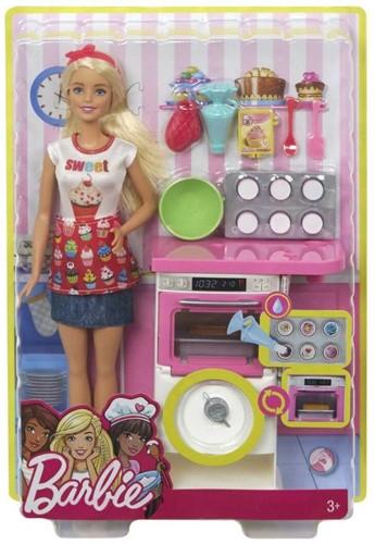 Mattel Barbie Pop met toebehoren bakker
