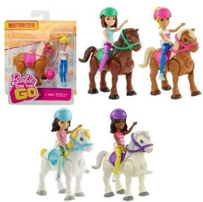 Barbie on the Go Barbie met Paard assorti 13x15cm
