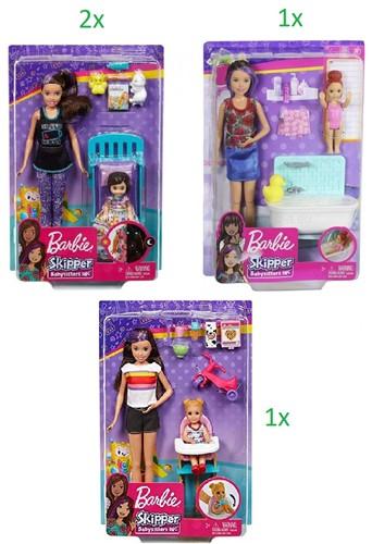 Mattel Barbie Pop Skipper Babysitter INC assorti
