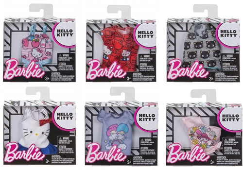 Barbie Hello Kitty kledingset assorti