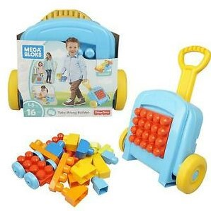 Fisher-Price Mega Bloks 16 delig in rolkoffer