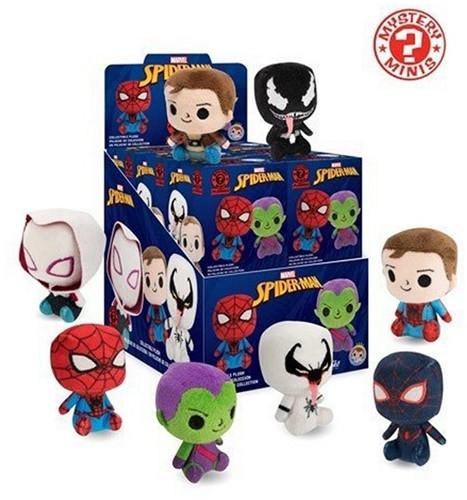 Mystery Minis Marvel Spider-Man Plushies CDU 12 6cm