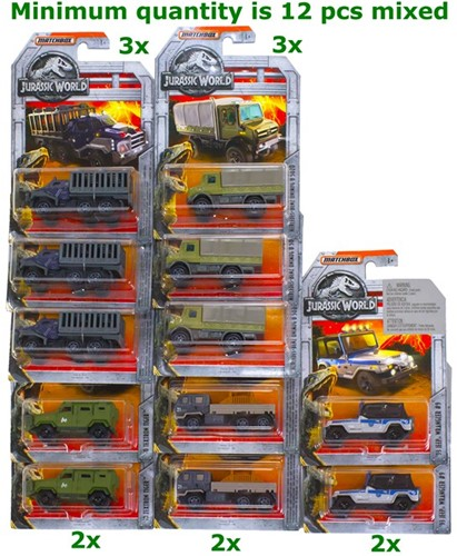 Matchbox Jurassic World Voertuigen assorti