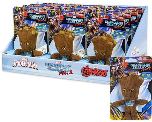 Marvel Guardians of the Galaxy Talking Groot Plush Baglip in display 12cm
