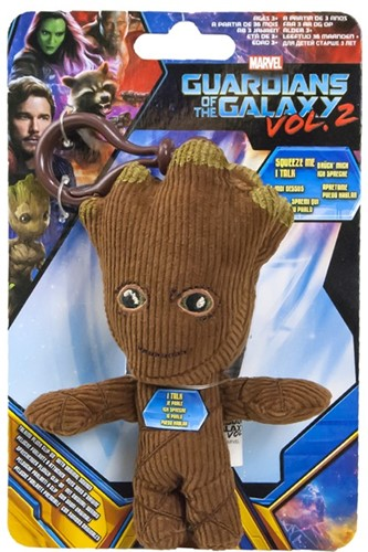 Marvel Guardians of the Galaxy Talking Groot Plush Baglip in display 12cm-2