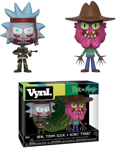 "Funko Vinyl Rick & Morty 4"" 2-Pack Seal Team Rick + Scary Terry"