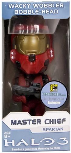 Wacky Wobbler Halo 3 Spartan Soldier Red