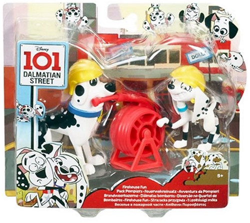 Disney 101 Dalmatiers Speelset met Figuur 2-Pack Firehouse Fun Doug & Dolly