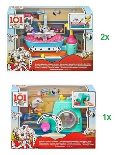 Disney 101 Dalmatiers Speelset met Figuur 2 assorti Borstel en Bad & Wasje draaien 20x28cm