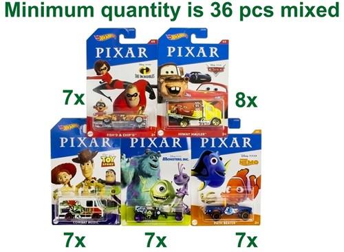 Mattel Hot Wheels Pixar Die-Cast voertuigen assorti