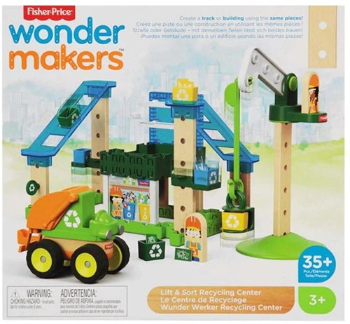 Mattel Fisher Price Wonder makers Hout Recycle centrum 35 delig 28x30,5cm