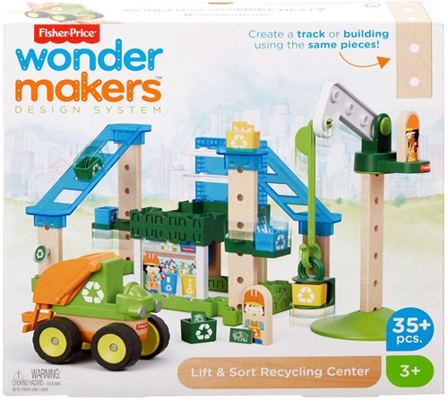 Mattel Fisher Price Wonder makers Hout Recycle centrum 35 delig