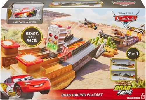 Mattel Disney Cars Xtreme Racing Series Speelset, Dragster-Rennen (UK ES FR PT)