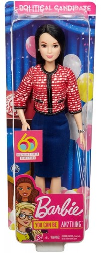 Barbie Pop You can be Anything 60th Anniversary Presidentskandidaat 9x31cm