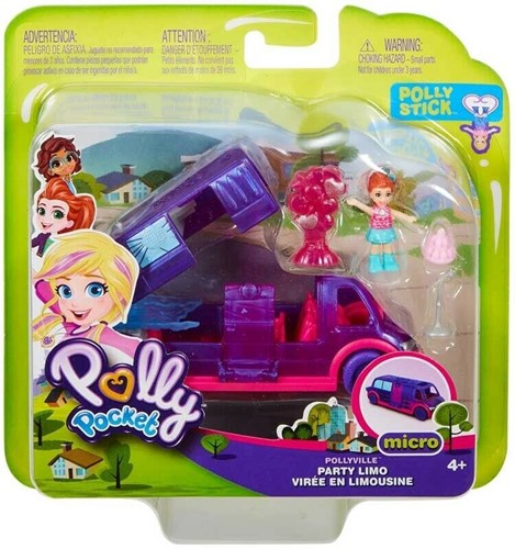 Mattel Polly Pocket Speelset Party-Limo 16,5cm