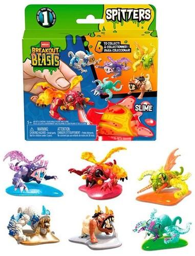 Mega Breakout Beasts slijm met figuur assorti 12x12,5cm