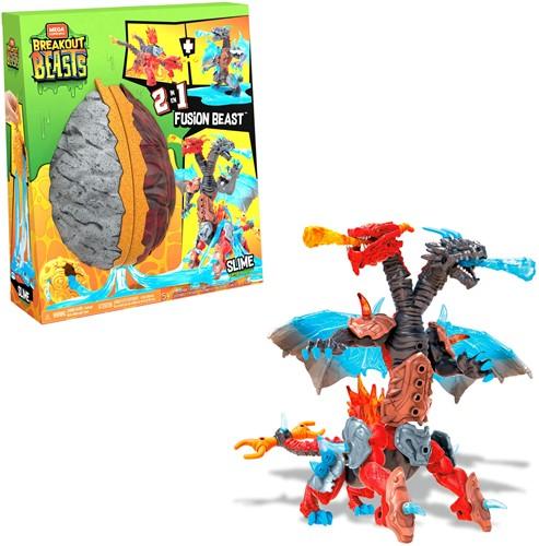 Mega Construx Breakout Beasts slijm ei met speelgoed 2-in-1 Fushion Beast 23x27cm