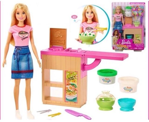 Mattel Barbie You can be anything Speelset Pop met toebehoren en klei 22,5x32,5cm