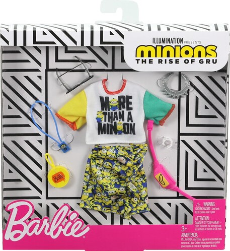 Barbie Minions kledingset 22x23cm