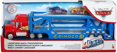 Disney Cars Autotransporter Dinoco Mack Truck inclusief 2 voertuigen