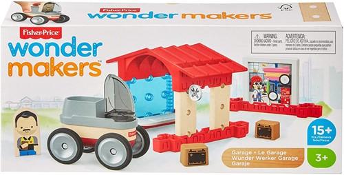 Mattel Fisher Price Wonder makers Hout Garage 14x6x30cm