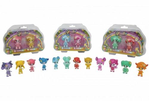 Glimmies Rainbow Friends Blister 2-Pack assorti 11x19cm