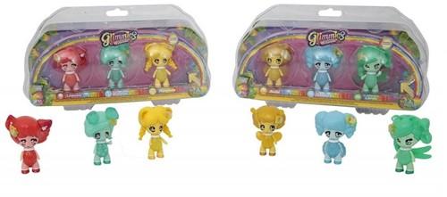 Glimmies Rainbow Friends Blister 3-Pack assorti