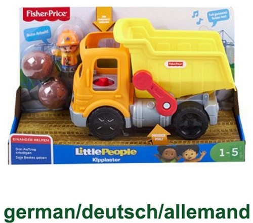 Mattel Fisher Price Little People kiepwagen met figuur en geluid