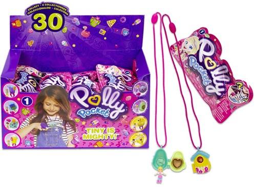 Mattel Polly Pocket Blindbag Mini verzamelfiguren Tiny Takeaways met toebehoren in  assorti in display (30)
