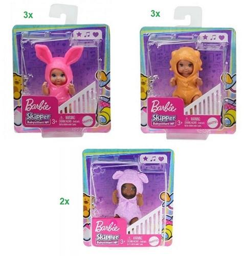 Barbie Skipper Babysitter 3 assorti 10x11cm