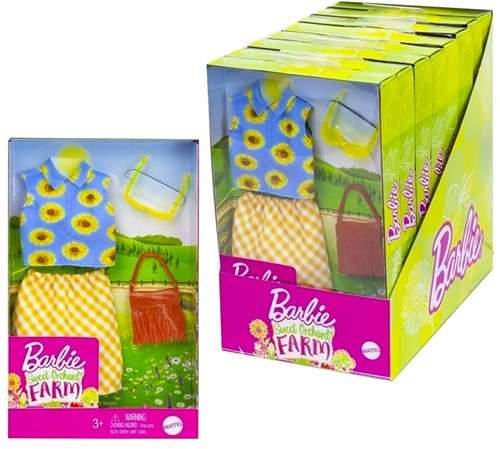 Mattel Barbie Sweet Orchard Farm Outfit assorti in display (8)