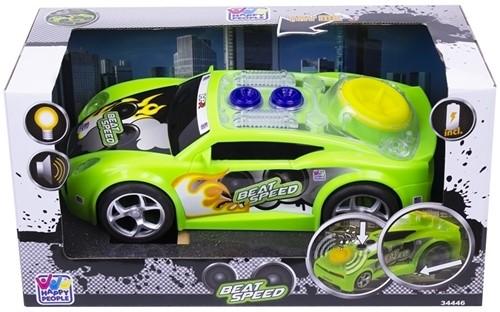 Happy People Power Team-voertuig, groen, Beat Speed met licht en geluid 16x31cm