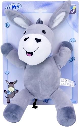 Baby pluche Ezel 30cm, grijs/blauw
