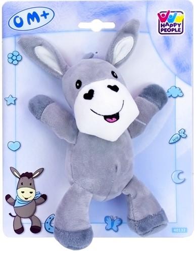 Baby pluche Ezel 20cm, grijs/blauw