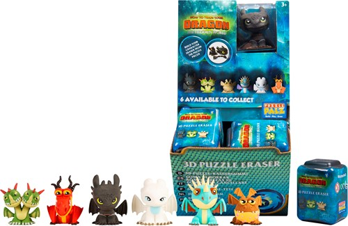 How To Train Your Dragon 3D Puzzel Gum 7 assorti in display (24) 4,5x6cm