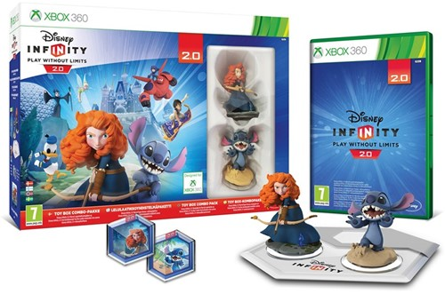 Disney Infinity Starter Pack, 2 figuren + Reader Tray + Xbox 360 Game 24x32cm