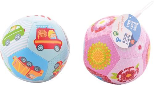 Happy World zachte bal voor jongen/meisje 14cm