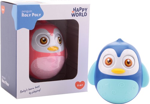 Happy World Roly Poly pinguïn 2 assorti