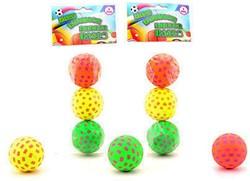 Hi-Bounce ballen 6,5cm, 3 stuks in zak